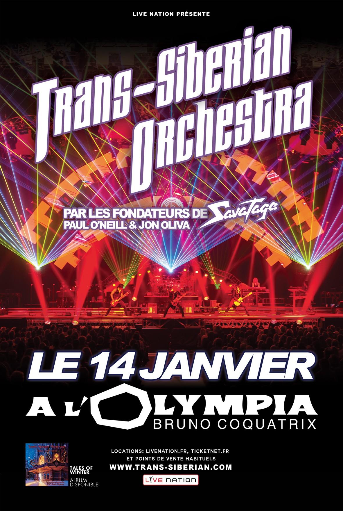 TRANS-SIBERIAN ORCHESTRA - Olympia, 14 janvier 2014