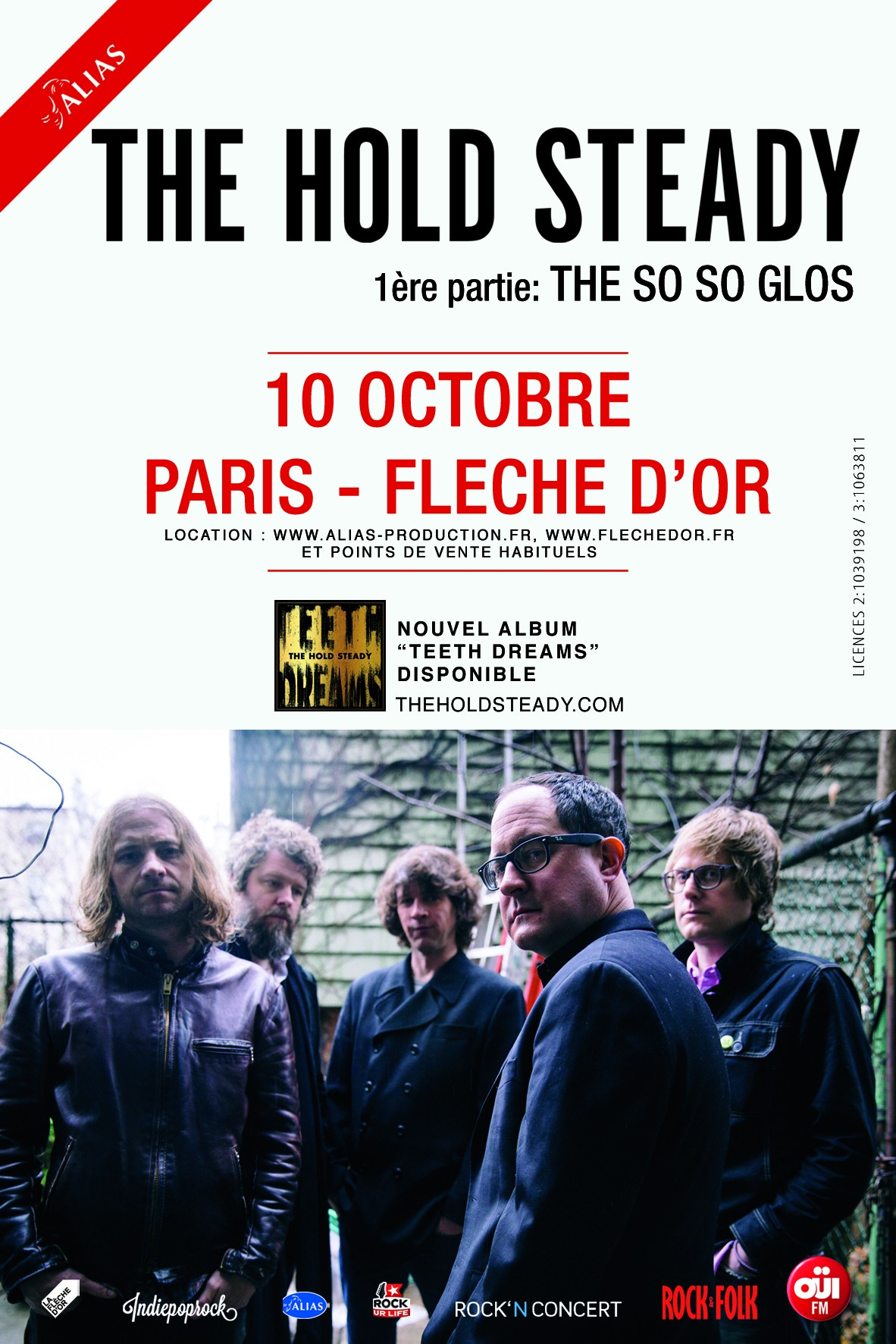 The hold steady Paris show artwork