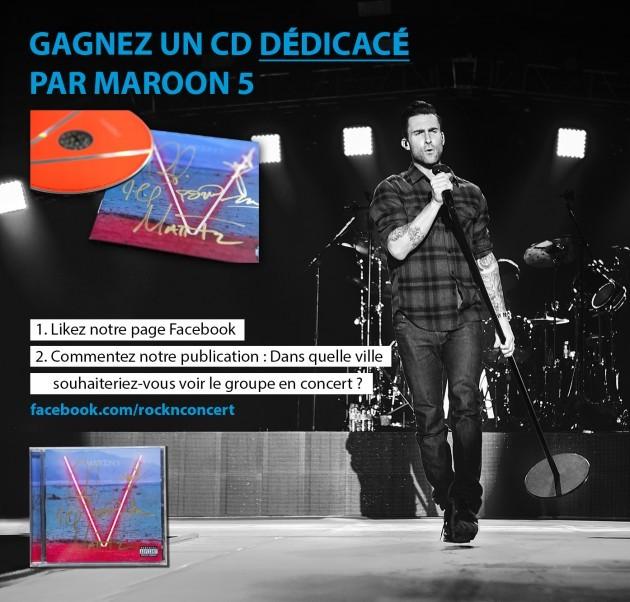 Gagnez un CD dédicacé par Maroon 5