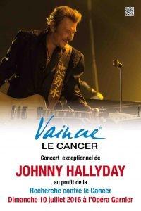 Affiche Concert Johnny Hallyday pour VAINCRE LE CANCER