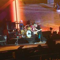 Charlie Watts, Keith Richards et ronnie Wood des Rolling STones à la U Arena le 22 octobre 2017
