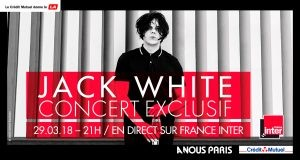 Affiche Jack White concert privé France Inter